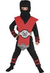Kostüm Ninja Rot Baby Größe S