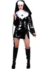 Kostüm Sexy Nonnen mit Minirock Frau Größe L