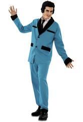 Disfraz Hombre S Rockabilly Azul