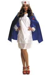 Disfraz Mujer S Enfermera con Capa Azul