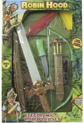 Épée électronique avec accessoires Robin Hood