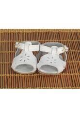 Sandalia Piel Blanca