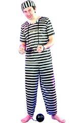 Kostüm Häftling für Männer in Größe XL