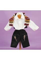 Pantaloni Marroni e Jersey Multicolore