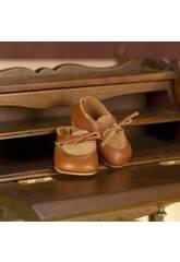 Chaussures en Daim et Cuir Marrons
