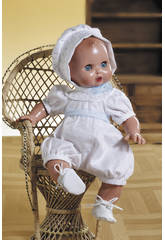 Juanin Pérez Baby Strampelanzug mit weißer Kapuze