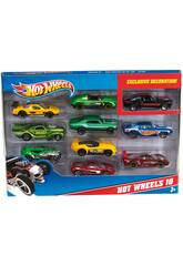 Hot Wheels Pack 10 Vehículos de Juguete Mattel 54886