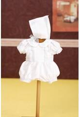 Grenouillère avec Bonnet Blanc
