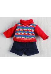 Mini Pantalón Corto Marino y Jersey Rojo