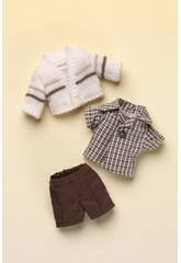 Mini Pantalon Marron et Pull Beige Mariquita Pérez MJP25011