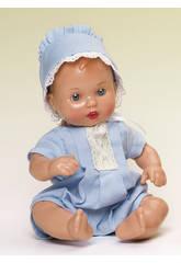 Mini Juanin Bébé Barboteuse Bleu ciel avec chapeau