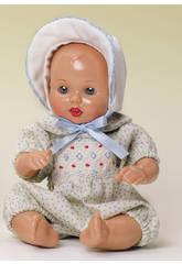 Mini Juanin Bebè Vestitino a pois Beige con cappellino
