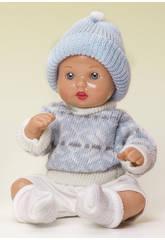 Mini Juanin Bébé Pantalon Beige Pull et Bonnet Bleu