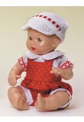 Mini Juanin Bebé Pichi Rojo y Gorra Punto Blanca