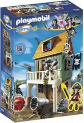 Playmobil Fort des Pirates Camouflé avec Ruby