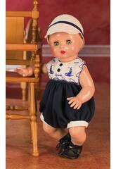 Juanin Pérez bébé Barboteuse Bleue Marine avec casquette