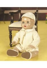 Juanin Pérez Baby Beige Strampelanzug-Set mit Mütze