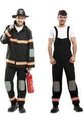 Déguisement Homme S Pompier Noir