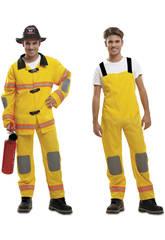 Disfraz Hombre XL Bombero Amarillo
