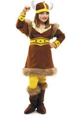Disfraz Niña L Vikinga del Norte