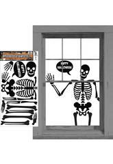 Deco Skeleto Adhesivos Rubies S4343
