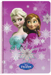 Cahier Couverture Rigide 80 pages Frozen