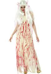 Fantasia Noiva Morta Sangue Mulher Tamanho XL