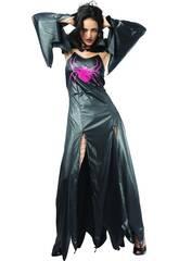 Kostüm Schwarze Gothic-Spinne Frau Größe XL