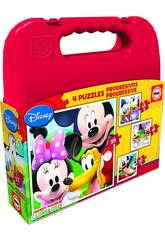 Puzzle Progressif Mickey Mouse 12-16-20-25