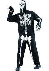 Déguisement Squelette Terrorifique Homme taille XL