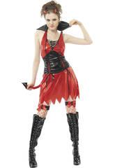 Kostüm Dämonin Sexy Frau Rot Größe XL