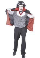 Fantasia Vampiro com Capa Homem Tamanho XL