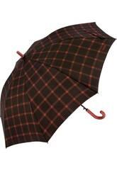 Parapluie Bisetti Adulte Automatique à Carreaux 68 cm 8 Tiges