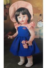 Mariquita Pérez Vestito Blu con cappellino