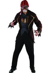 Maschera Pirata Zombi Uomo Taglia XL