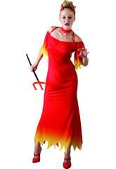Kostüm Demön Frau Anzug lang Größe L