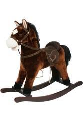 Cavallo a Dondolo Marrone Con Suoni 46 cm