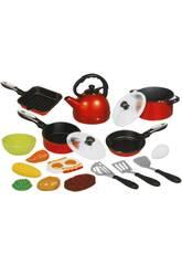 Set cocina de juguete de 18 piezas