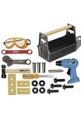 Caixa de ferramentas de 22 peças com furadeira