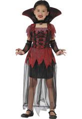 Disfraz Vampiresa Gotica Niña Talla S