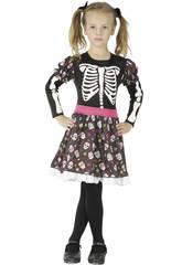 Disfraz Esqueleta Niña Talla M