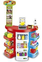 Supermercado com Acessórios 38 Peças e Scanner Electrónico 80x50cm