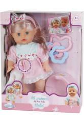 Puppe sortierte Baby mit Töpfchen und Zubehör 30x14cm