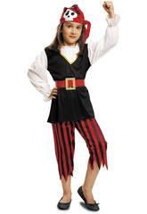 Déguisement Fille L Pirate Tête de mort