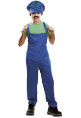 Disfraz Niños L Super Plumber Verde