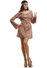 Disfraz Mujer L Hippie Psicodélica