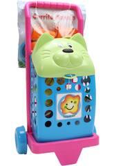 Carrello spesa Gatto con accessori 50X23CM Vicam Toys 33