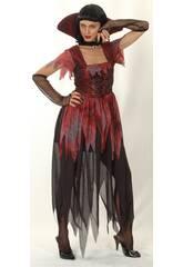 Fantasia Vampira Gótica Mulher Tamanho XL