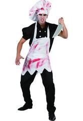 Disfraz Cocinero Malvado sangriento hombre Talla L