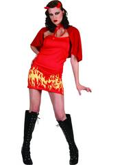 Kostüm Flammenteuflin Frau Größe L